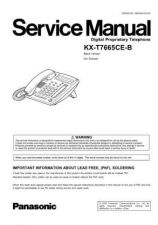 Buy Panasonic T7665CEB Manual by download Mauritron #301790