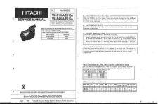 Buy Hitachi VM-E58A-2 Service Manual by download Mauritron #286919