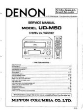 Buy Denon UD-M50 Receiver Service Manual by download Mauritron #307041