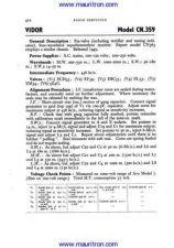 Buy VIDOR CN359 Vintage Service Information by download Mauritron #327208