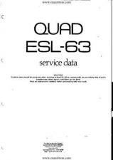 Buy Quad ESL63 Service Manual by download Mauritron #327795