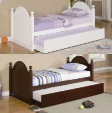 Buy New Daybed with Trundle Wood white or deep pine veneer day bed Twin free insuran