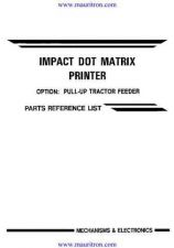 Buy BROTHER. M4318. Parts Lists. by download Mauritron #314755