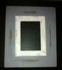 Buy White over gray picture frame