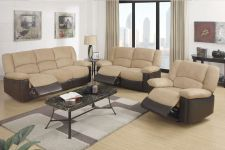 Buy Microfiber Sofa couch Recliner Sofa loveseat Chair 3 piece Living roo set #F6601