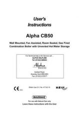 Buy Alpha CB50 USER INSTRUCTIONS by download Mauritron #323774