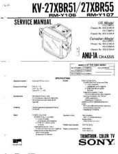 Buy Sony KV-27EXR25 TV Service Manual by download Mauritron #322904