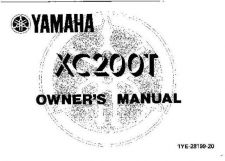 Buy Yamaha 1YE-28199-20 Scooter Manual by download #333959