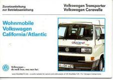 Buy Volkswagen 11 1989 Westfalia Atlantic California Owners Handbook by download #333703