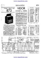Buy VIDOR. 360A. Vintage Service Information. by download Mauritron #315250