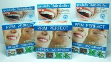 Buy 25g 3 BOX HERBAL TOOTHPASTE PRIM PERFECT REDUCE CIGARETTE STAIN,COFFEE, BLEED