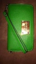 Buy Authentic Green Michael Kors Wristlet/Clucth I Phone Case