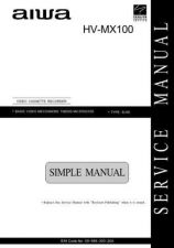 Buy AIWA HVMX100 Service Manual by download Mauritron #324865