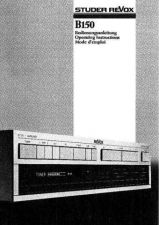 Buy Revox B150 Operating Guide by download Mauritron #312222