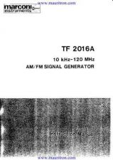 Buy Marconi TF2016A Manual by download Mauritron #325101
