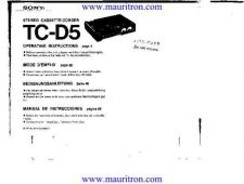Buy Sony TCD5 Operating by download Mauritron #325470