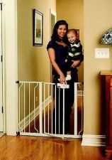 Buy New White Regalo Easy Step Walk Thru Gate, Baby Toddler Pet Child Safety Doorway