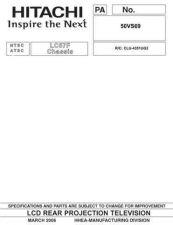 Buy Hitachi 50VG825-LC58E Service Manual by download Mauritron #288209