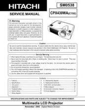 Buy Hitachi cpx880_885 Service Manual by download Mauritron #289312