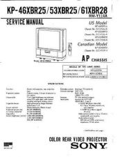 Buy Sony KP46XBR25 Service Manual by download Mauritron #332976