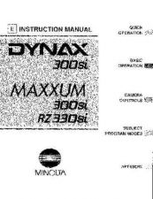 Buy Konica Maxxum 300siManual-Part1 Camera Operating Guide by download Mauritron #320748