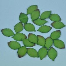 Buy 50 MULBERRY PAPER ARTIFICIAL ROSE LEAVES FOLIAGE BROWN GREEN 1.7 cm.X 2.8 cm.