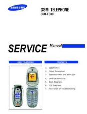 Buy Samsung SGH-E330 Mobile Phone Service Manual by download Mauritron #306322
