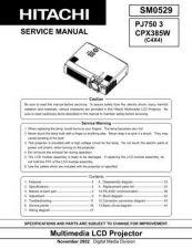 Buy Hitachi PJTX10E_EL Service Manual by download Mauritron #290734