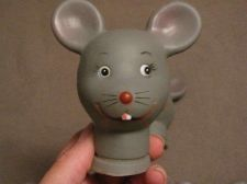 "Buy Rubber 4"" Gray Mice / Mouse doll head"