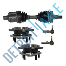 Buy Front Driver CV Axle Shaft w/ ABS + 2 Tie Rod + 2 Wheel Hub and Bearing Assembly