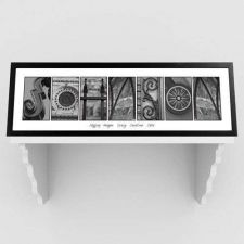 Buy Architectural Elements III Black and White Family Name Print FreePersonalization