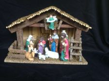 Buy Antique / vintage christmas nativity set