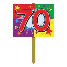 Buy 70 Birthday Yard Sign Party Accessory 1 Count Halloween Holiday Decor Outdoor Se