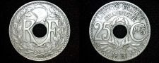 Buy 1927 French 25 Centimes World Coin - France