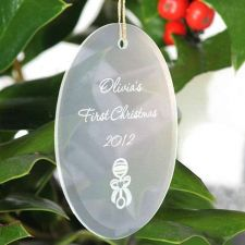 Buy Beveled Glass Ornament-Oval Shaped - 15 Design Choices - Free Personalization