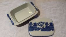 Buy Blue Willow White Candy Dish Variety Dish with Lid no chips