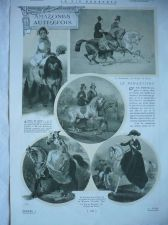 Buy Horse Side Saddle Women Riders 1909 original french print