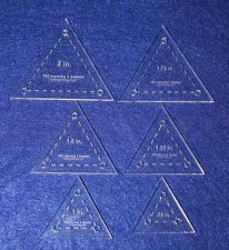 Buy Quilt Templates- 6 Piece Set Half Sizes- Equilateral Triangles Acrylic 1/8""