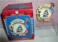 Buy U.S.S. Constitution Old Ironsides Celebrate Tradition USA Flag ornament