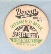 Buy New York Oneida Milk Bottle Cap Name/Subject: Dewan Dairy Inc. Vitamin D M~533
