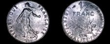 Buy 1974 French Half (1/2) Franc World Coin - France
