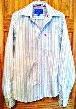 Buy MEN's Abercrombie & Fitch-Muscle Button-up CASUAL Long-Sleeve SHIRT 100%Cotton-M