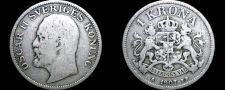 Buy 1907 Sweden 1 Kronor Krona World Silver Coin