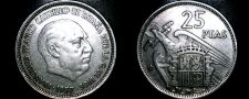Buy 1957 (58) Spanish 25 Peseta World Coin - Spain Caudillo