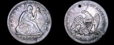 Buy 1854-P Seated Liberty Silver Quarter - Arrows - Hole Marked