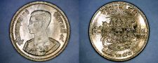 Buy 1957 BE2500 Thai 5 Satang World Coin - Thailand Siam Y-78