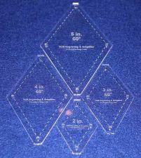 "Buy Quilt Templates-No Tip 60° Diamond 4 Pc Set- 2"",3"",4"",5"" -Acrylic 1/8"""