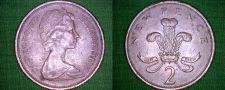 Buy 1975 Great Britain 2 New Pence World Coin - UK