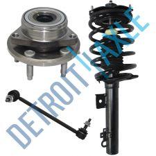 Buy 3 pc Set - 1 Front Passenger Ready Strut + 1 Wheel Hub Bearing and 1 Sway Bar