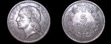 Buy 1946 French 5 Franc World Coin - France
